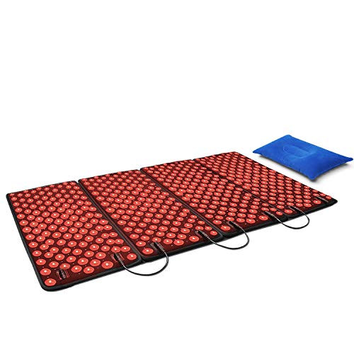 %6 OFF! DGXINJUN Red Light Therapy Devices 880nm Near Infrared LED Large Pad Back Pain Relief for Lo...