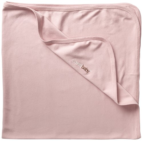 L'ovedbaby Unisex-Baby Newborn Organic Swaddling Blanket, Mauve, one size