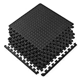 Gaiam Essentials Interlocking Exercise Mat, Square Puzzle Foam Tiles Home Gym Fitness Mat Workout...