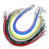 JZK 50 x Collar de cordón colgante para mujer hombre con corchete langosta 1.5mm para manualidades colgante Collar DIY pulsera joyería fabricación