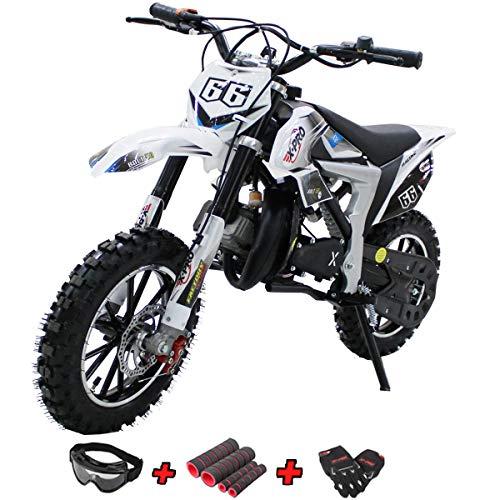 X-PRO Bolt 50cc Dirt Bike Gas Dirt Bike Kids Dirt Bikes Pit Bikes Youth Dirt Pitbike 50cc Mini Dirt Bike with Gloves, Goggle and Handgrip,Orange