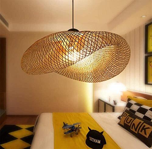 Bungelende lichten Retro stijl Zuidoost-Aziatische Rattan bamboe plafond Tea Room Lounge Lighting Decoration AC110-240V E27