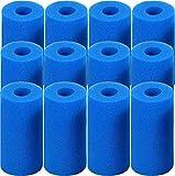 LXTOPN Esponja de filtro de filtro tipo A, esponja de filtro de piscina, cartuchos de filtro reutilizables, filtro de spa lavable para spa, filtro de piscina (12 unidades)