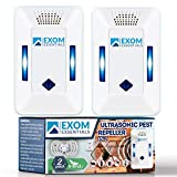 ES-2, Ultrasonic Pest Repeller Wall Plug-in, Most Effective than Repellents, Get Rid Of - Roaches, Ants, Spiders, Bed Bugs, Мosquito, insects, Fleas, Fly, Rodents, Squirrels, Mice, Rats, Bats, (2Pack)
