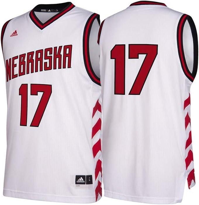 adidas Nebraska Cornhuskers NCAA 17 Hardwood Classics White Basketball Jersey