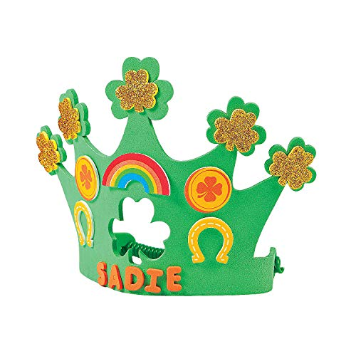 Do It Yourself Foam Shamrock Crown Kit - Makes 12 - Crafts for Kids and Fun Home Activities