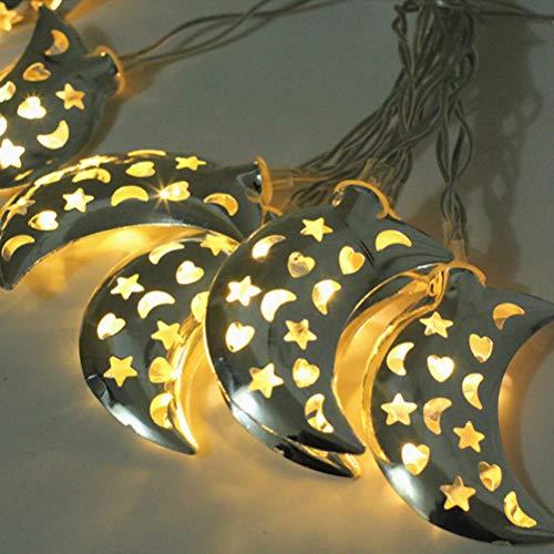 OSALADI - Guirnalda de luces led (hierro, 1,65 m, 10 ledes)