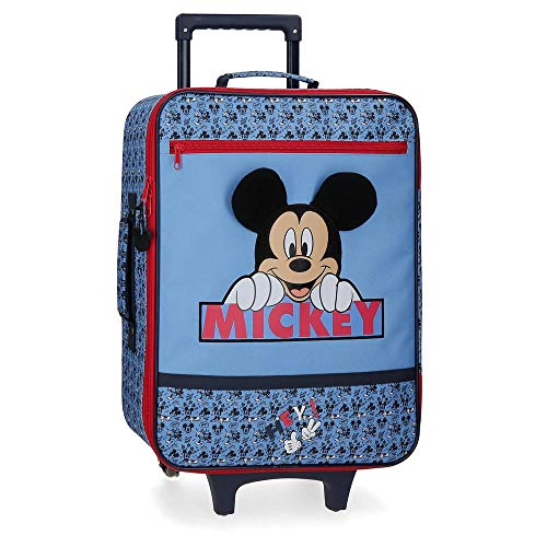 Disney Mickey Moods Red Cabin Suitcase 35x50x16 cm Soft Polyester 25 Litre 1.8 Kg 2 Wheels Hand Luggage