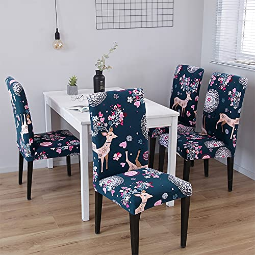 Chair Cover Spandex Removable Seat Cover for Office Dining Room Weddings Party Banquet Universal Size 6PC housse de Chaise 19