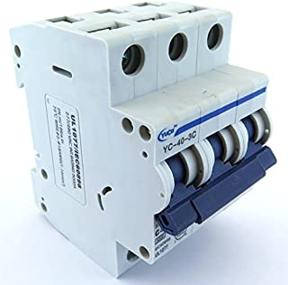 YuCo YC-40-3C Miniature Din Rail Circuit Breaker C Curve 277/480V 50/60Hz 3 Pole (40 Amp)
