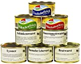 8er Set Wurstkonserven/Fleischkonserven, rd. 2,9 kg, z.B. Hausmacher Leberwurst, Mettwurst, Lebensmittelvorrat
