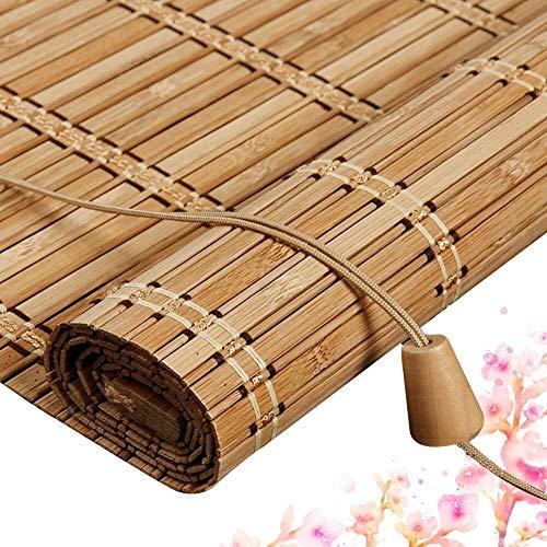 Bamboe Rolgordijnen Bamboe Vouwgordijnen Jaloezieën Houten Jaloezieën - Gordijnschermen Met Trekkoord Zonwering Veranda Slaapkamer Multi-size Aanpasbaar (Grootte: 100x170CM)