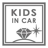 imoninn KIDS in car ステッカー 【シンプル版】 No.26 ダイアモンド (シルバーメタリック)