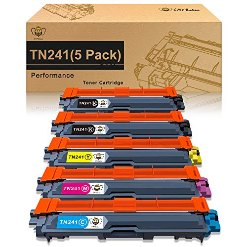 CMYBabee Cartuccia di Toner Compatibile Ricambio per Brother TN241 TN245 per DCP-9020CDW DCP-9015CDW HL-3140CW HL-3150CDW HL-3170CDW MFC-9130CW MFC-9140CDN MFC-9330CDW MFC-9340CDW (5 Pacco)