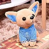 Cossll498 Cadeau d'anniversaire Mignon Mini Chihuahua pour Chien en Peluche 17cm Douce poupée en Peluche Bleu