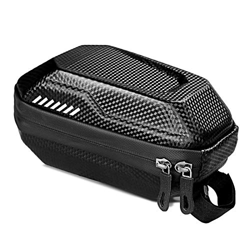 DeepRoar Waterproof Bike Saddle Bag, Underseat Pack, Tough EVA Shell Buckle Install Bag,Suitable for Bike, Folding Bike and Road Bike (Black)