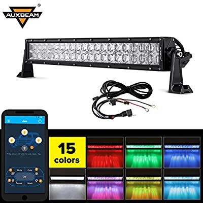 Auxbeam V Series 5D LED Light Bar CREE LEDs Combo Beam with RGB Strobe Controlled by Bluetooth APP