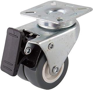 Yardwe 2 Inch Caster Wheels Remwielen met 360 graden Draaiplaat Zware Duty Castors Geweldig voor Carts Meubels Dolly Werkb...