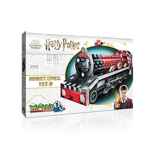 Wrebbit 3D- Wrebbit - Puzzle 3D pequeño Licencia Harry Potter el Expreso de Hogwarts, de 155 Piezas. (39412918)