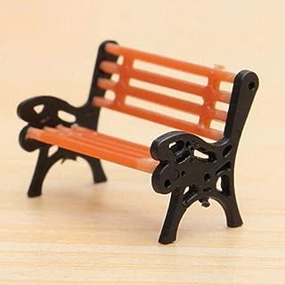 yingyue Mini Garden Ornament Miniature Park Bench Craft DIY House Decor Bench Model