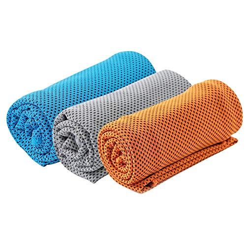 Kühlendes Handtuch Mikrofaser Kühlhandtücher Sporttuch Schnelltrocknende Ice Handtuch Weiches Atmungsaktives Chilly Handtuch Sporthandtuch für Yoga Fitness Training Golf Laufen Sport Wandern Camping