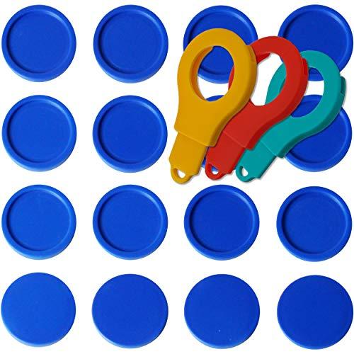 25 Einkaufswagenchips Pfandmarken EKW2 Wertmarken Farbe Blau, Randmarken + 3 Chiphalter für Schlüsselbund von SchwabMarken
