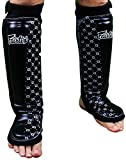 Fairtex Neoprene Shin Guards - Black - Medium