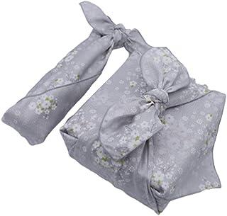 多目的日本伝統風呂敷(ふろしき)- プレミアム 綿麻60番手 綿100% 50cm x 50cm, サクラホワイト(アイボリー)