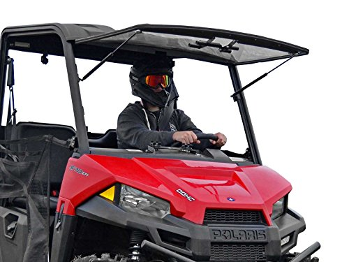 SuperATV Heavy Duty Scratch Resistant Flip Windshield for 2015+ Polaris MIDSIZE Ranger 570/570...