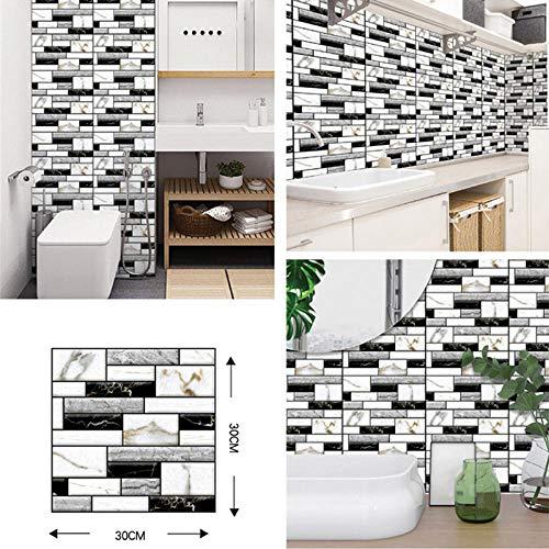 Tapetenkleister 3D Brick Wallpaper Diy Self Adhesive Wall Stickers For Living Room Bathroom Kitchen Backsplash Tiles Paper Waterproof Home Decor-3D-509_4_Piece