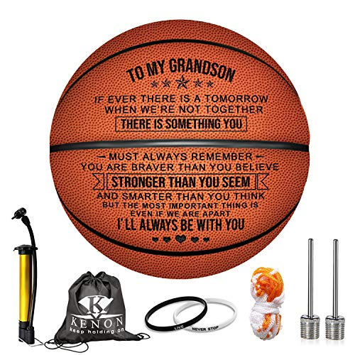 Lowest Prices! Kenon Engraved Basketball for Grandson - Personalized Basketball Indoor/Outdoor Game ...