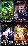 Raymond E. Feist The Serpentwar Saga 4 Books Complete Collection Set - Shadow of a Dark Queen, Rise of a Merchant Prince, Rage of a Demon King, Shards of a Broken Crown)