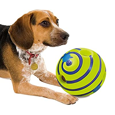 JML Wobble Wag Giggle: Durable No Battery Interactive Dog Toy with Giggling Noises