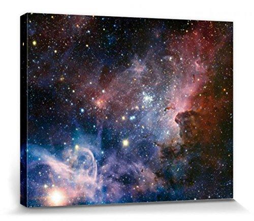 1art1 Der Weltraum - Sternengeburt Im Carinanebel Bilder Leinwand-Bild Auf Keilrahmen | XXL-Wandbild Poster Kunstdruck Als Leinwandbild 50 x 40 cm