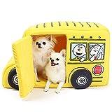 ペットパラダイス スヌーピー バス ハウス 【黄】ペットハウス ドッグハウス 犬 スクールバス 998-55694