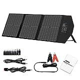 AIDPEK 60W Foldable Solar Panel with Kickstand,Portable Solar Charger with QC3.0 USB Ports&18V DC Output for Suaoki Portable...