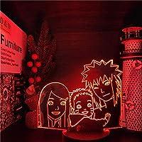 GMYXSW 3D夜ライトLAVAランプ MINATO kushinaファミリー3DビジュアルLEDナイトライトアニメライトランプ子供部屋の装飾ギフト