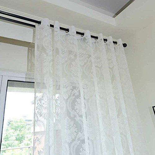Met Love Haute qualité Jacquard Européenne Rideau Écrans Creux Respirant Ventilation Salon Balcon Baie Fenêtre 2 Panneaux (Couleur : C, taille : L:2.0*H:2.7m)