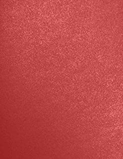 8 1/2 x 11 Cardstock - Red Fever Metallic - Sirio Pearl? (50 Qty.) | Perfect for Printing, Copying, Crafting, various Business needs and so much more! | 81211-C-200-50