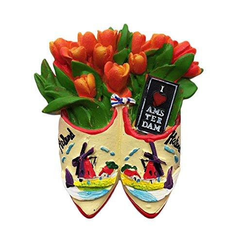 Amsterdam Holland 3D Tulipano frigorifero magnete viaggio adesivo souvenir, decorazione casa e cucina Holland frigorifero magnete dalla Cina