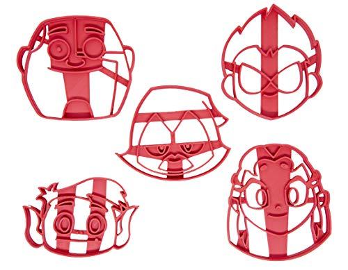 Set di 5 Tagliabiscotti formine con i personaggi dei Teen Titans Go! (Robin, Stella, Bibi, Corvina, Cyborg)