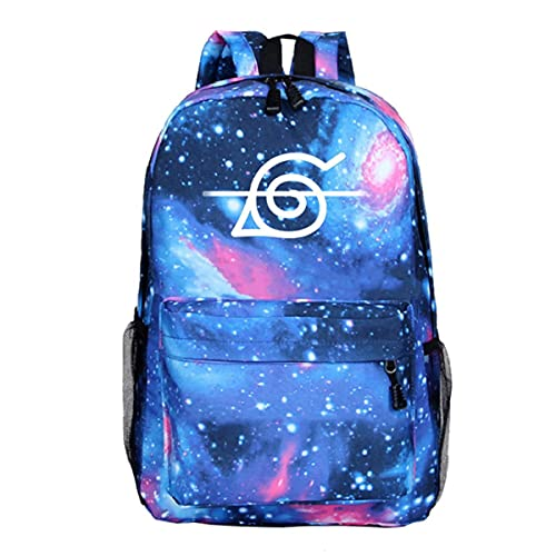 BKHNHUG Anime Hokage mochila luminosa circundante cielo estrellado azul bolsa de escuela para estudiantes bolsa de viaje al aire libre-patrón 9, tamaño libre