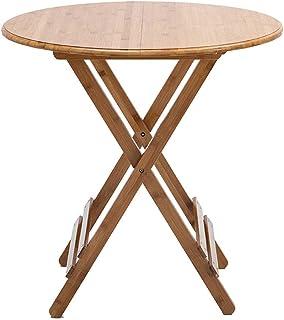 ZXW Table Pliante- Table Ronde Pliante en Bois de ménage, Table à Manger portative de Petit Appartement de Salle à Manger ...