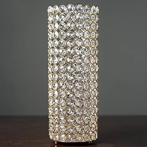 Efavormart 16' Tall Gold Exquisite Wedding Votive Tealight Crystal Candle Holder