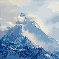DMFNGJSD 数字油絵 フレームレス 、数字キット塗り絵 手塗り DIY絵-部 40X50cm
