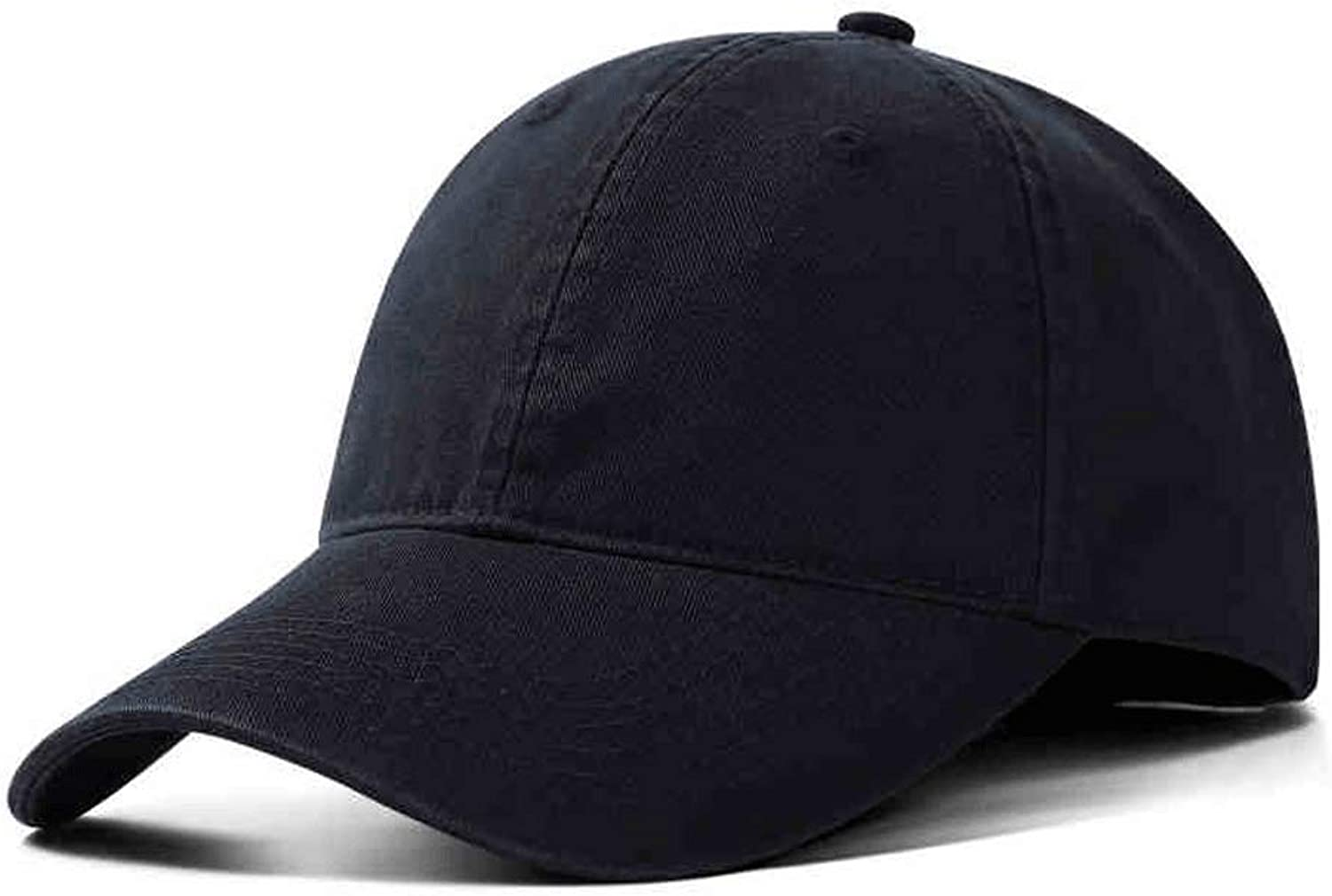 SLH Retro Black Baseball Cap Male and Female Cap Curved Hat Long Eaves Pure color, Sun Hat