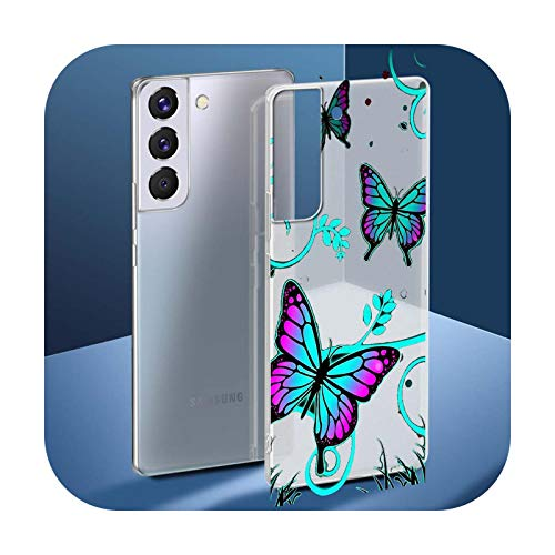 Funda para Samsung Galaxy S20 FE S9 S10 Plus S21 Ultra S8 S7 Edge de silicona mate de lujo para Samsung S8 Plus