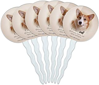 GRAPHICS & MORE Corgi Dog Breed Cupcake Picks Toppers Decoration Set of 6