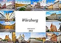 Wuerzburg Impressionen (Tischkalender 2022 DIN A5 quer): Wunderschoene Bilder der Stadt Wuerzburg (Monatskalender, 14 Seiten )