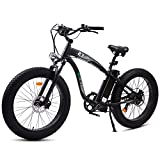 ECOTRIC UL Certified - Powerful EBike Fat Tire Electric Bicycle 26' Aluminium Frame Suspension Fork Beach Snow Electric Mountain Bicycle 750W Motor 13AH/48V Ebike Removable Lithium Battery (Black)